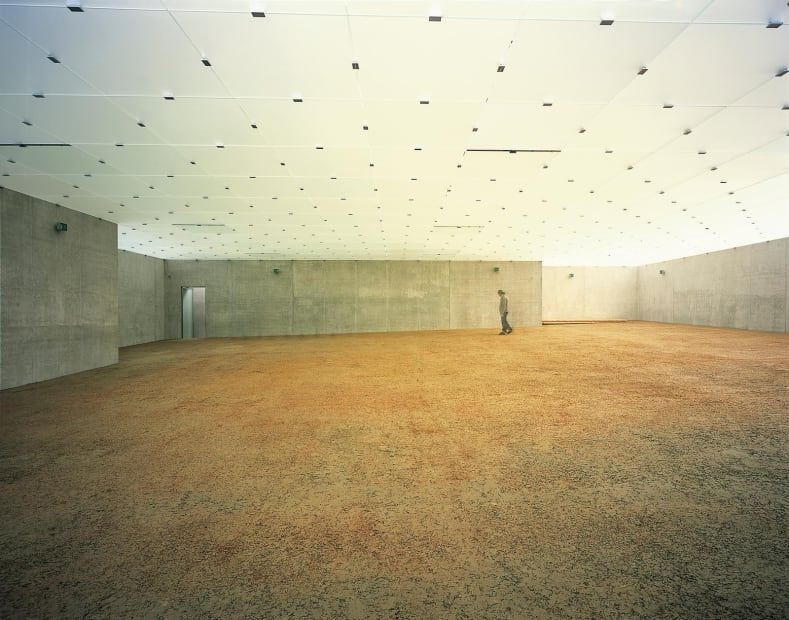 installation image of covered floor in museum