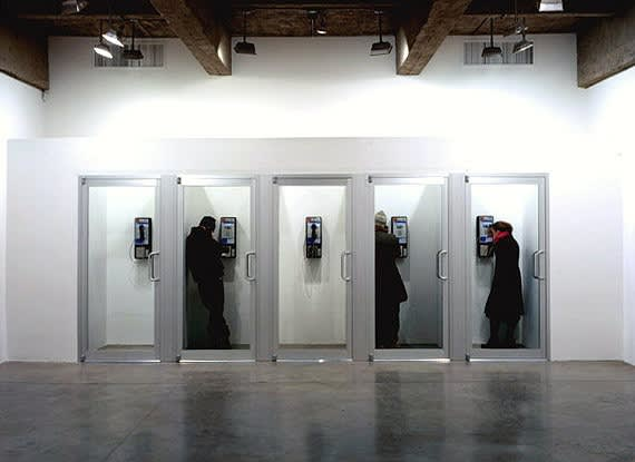 Installation view of MICHAEL ELMGREEN AND INGAR DRAGSET: PHONE HOME