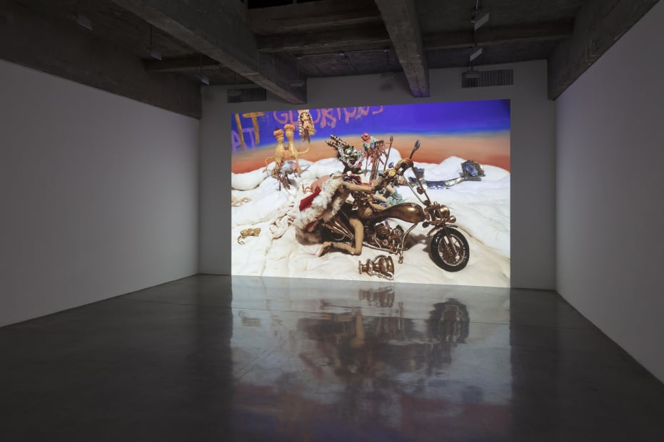 Djurberg and Berg sculptures and video install