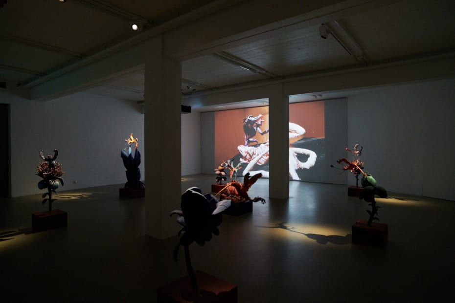 image of Nathalie Djurberg and Hans Berg video and sculpture installationat the Nordic House