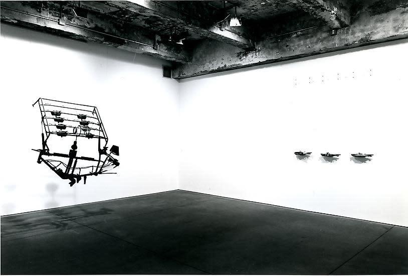Chris Burden black and white install image