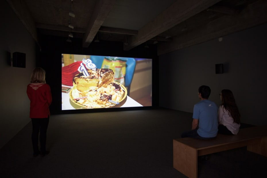 "Install image of ""Eight, Eighteen"" video by Hubbard/Birchler"