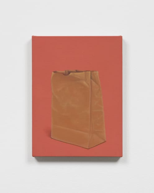 Powell paper bag painting