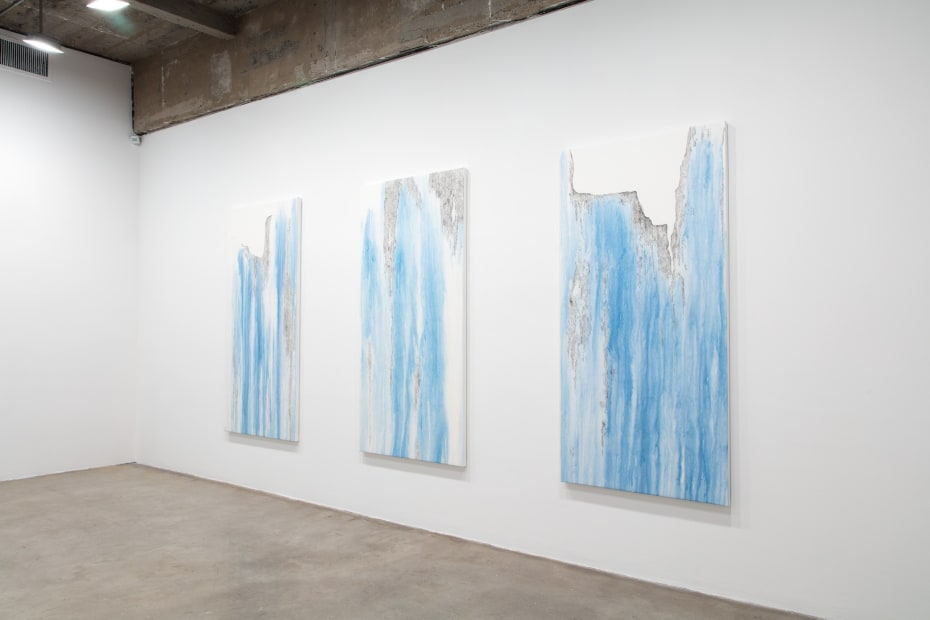 Cinto install with 3 paintings