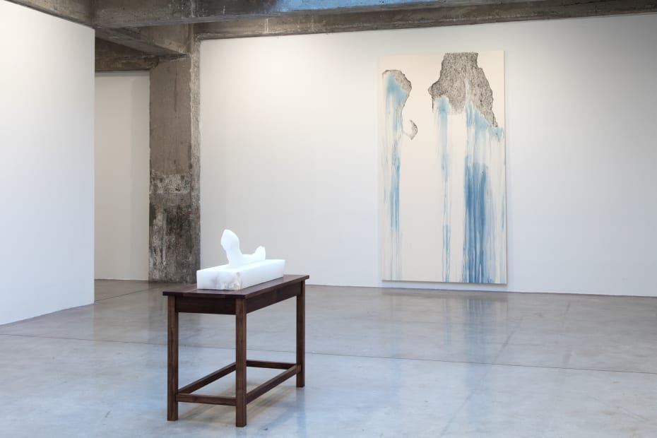 Cinto install with painting and sculpture