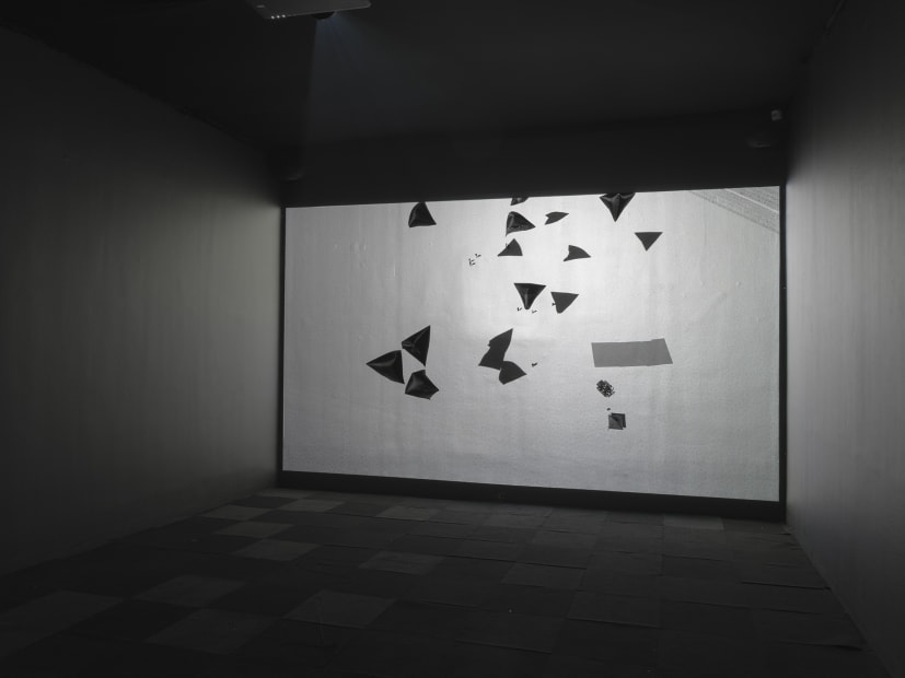 Saraceno video projection