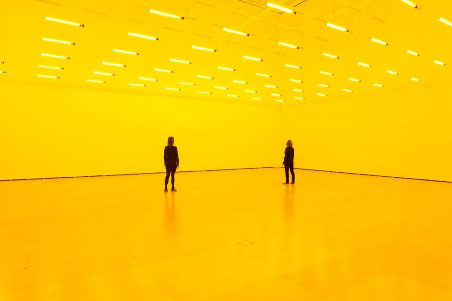 image of eliasson, yellow room