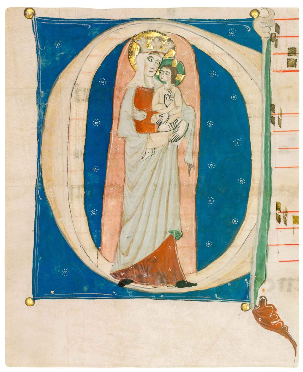 Virgin and Child from Dominican Antiphonal