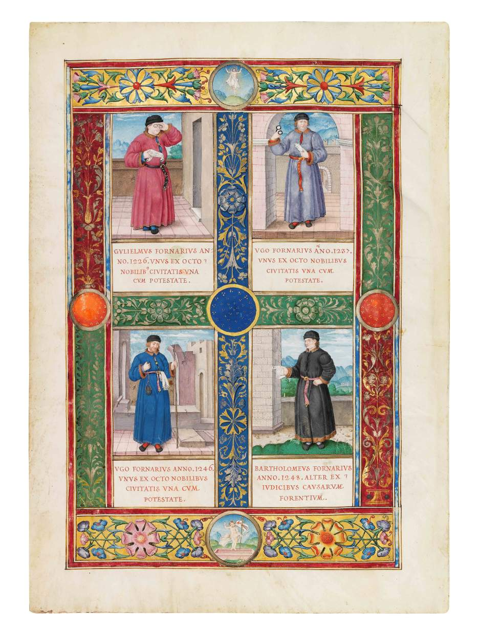 Four sons of the Genoese Fornari family