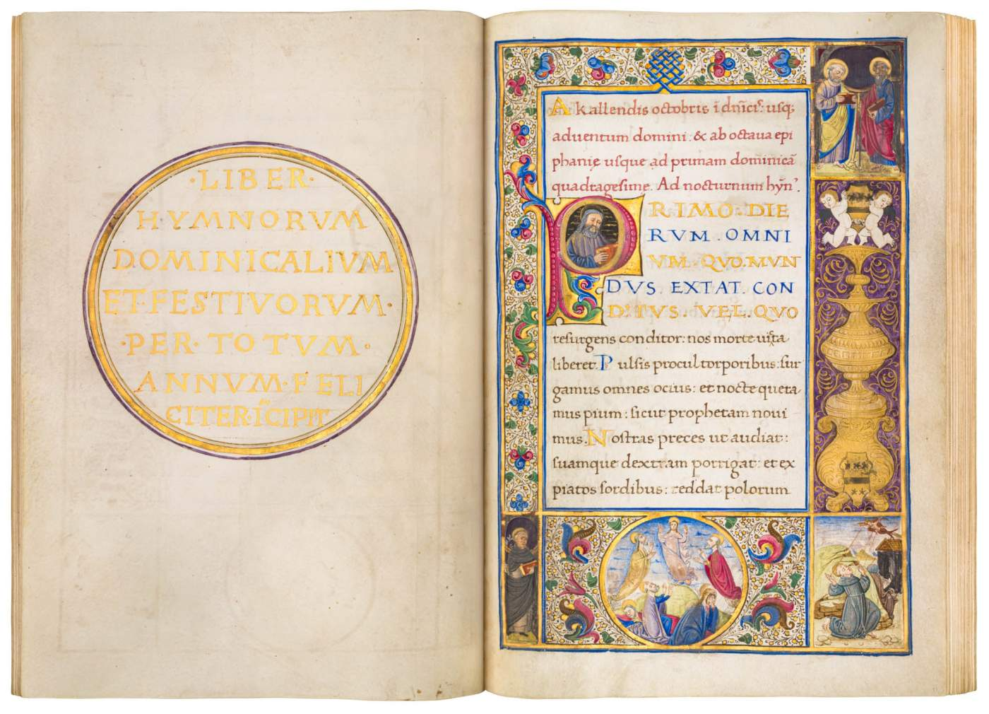 Gorgeous Hymnal by the Illuminator of King Alfonso V's Court
