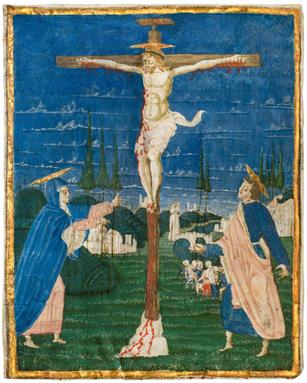Crucifixion, cutting from a Missal