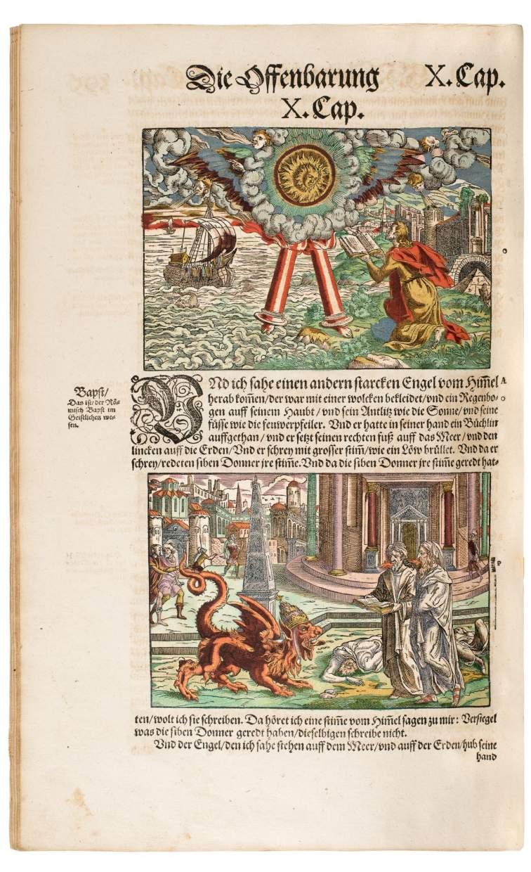 Famous, Luxuriously Illuminated Feyerabend Bible, Exquisitely Bound