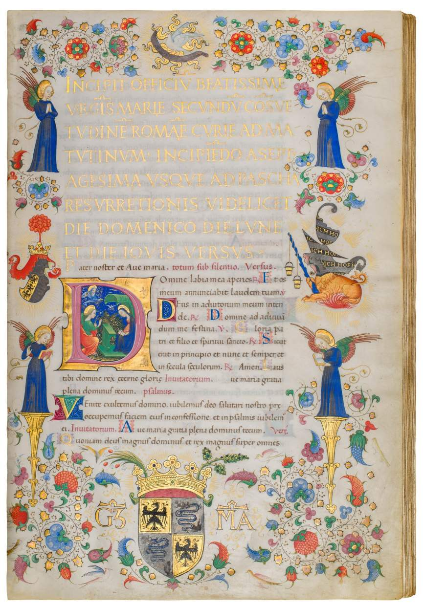 Book of Hours for Galeazzo Maria Sforza, use of Rome
