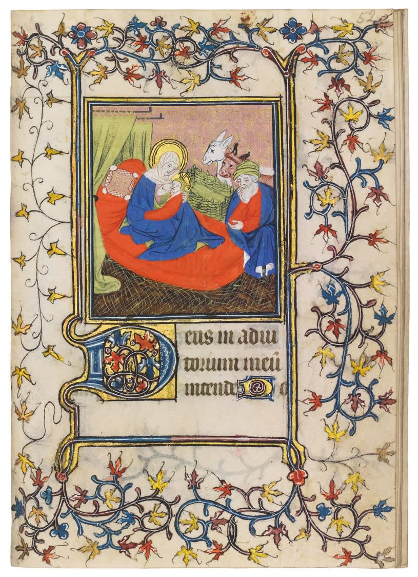 Elaborate Book of Hours with Vivid, Unusual Miniatures
