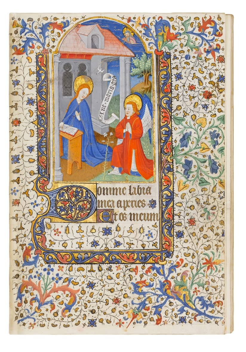 Fascinating Book of Hours, possibly use of Paris