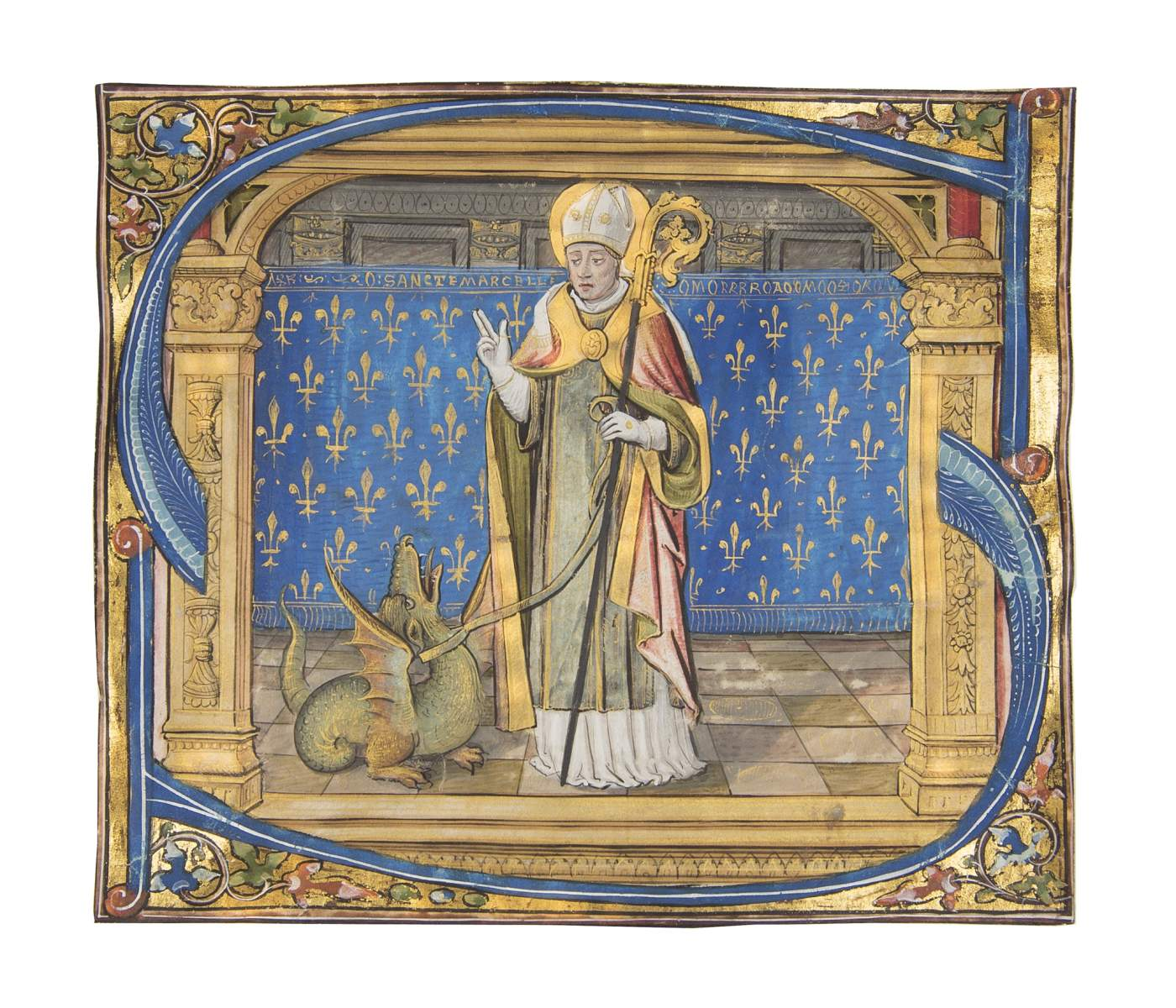From the royal Gradual of King Louis XII – Saint Marcel and his Dragon