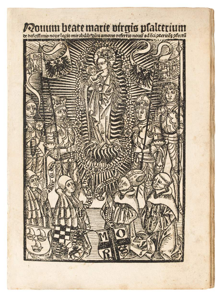 One of the finest German incunables – 150 prayers regarding the Virgin Mary,