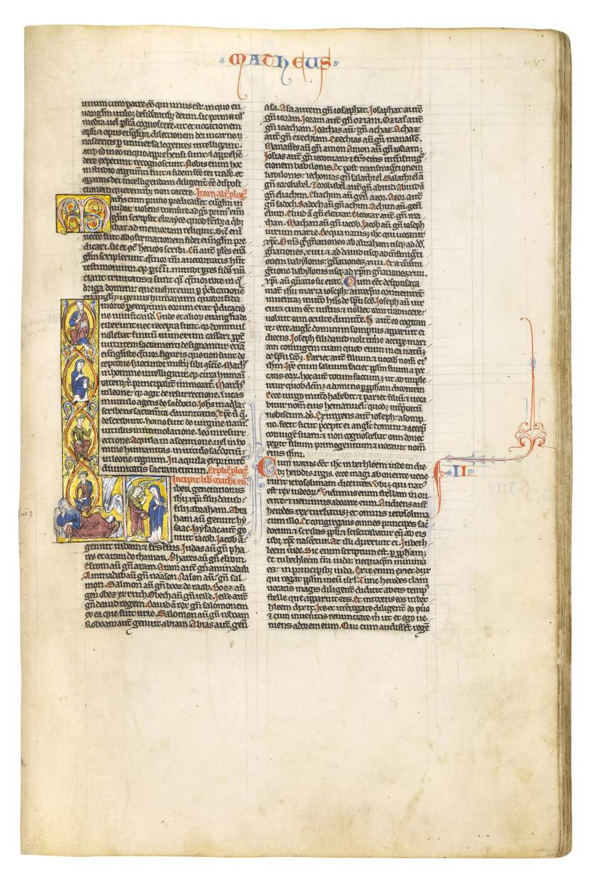 Latin Bible with over 100 decorated initials