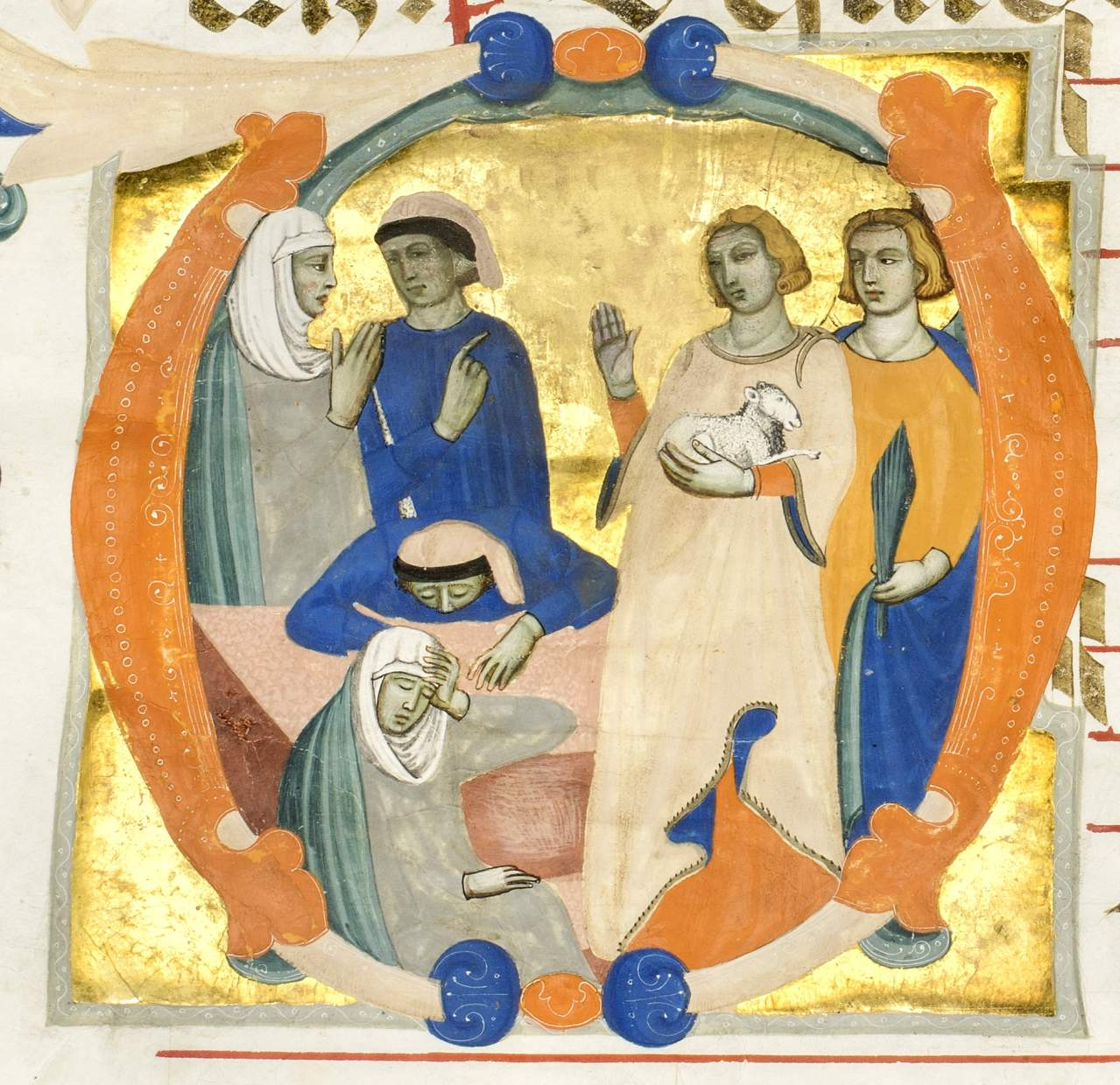 St. Agnes appearing to her parents