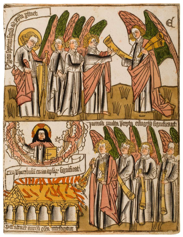 Rare Blockbook Leaf – Opening of the Seventh Seal