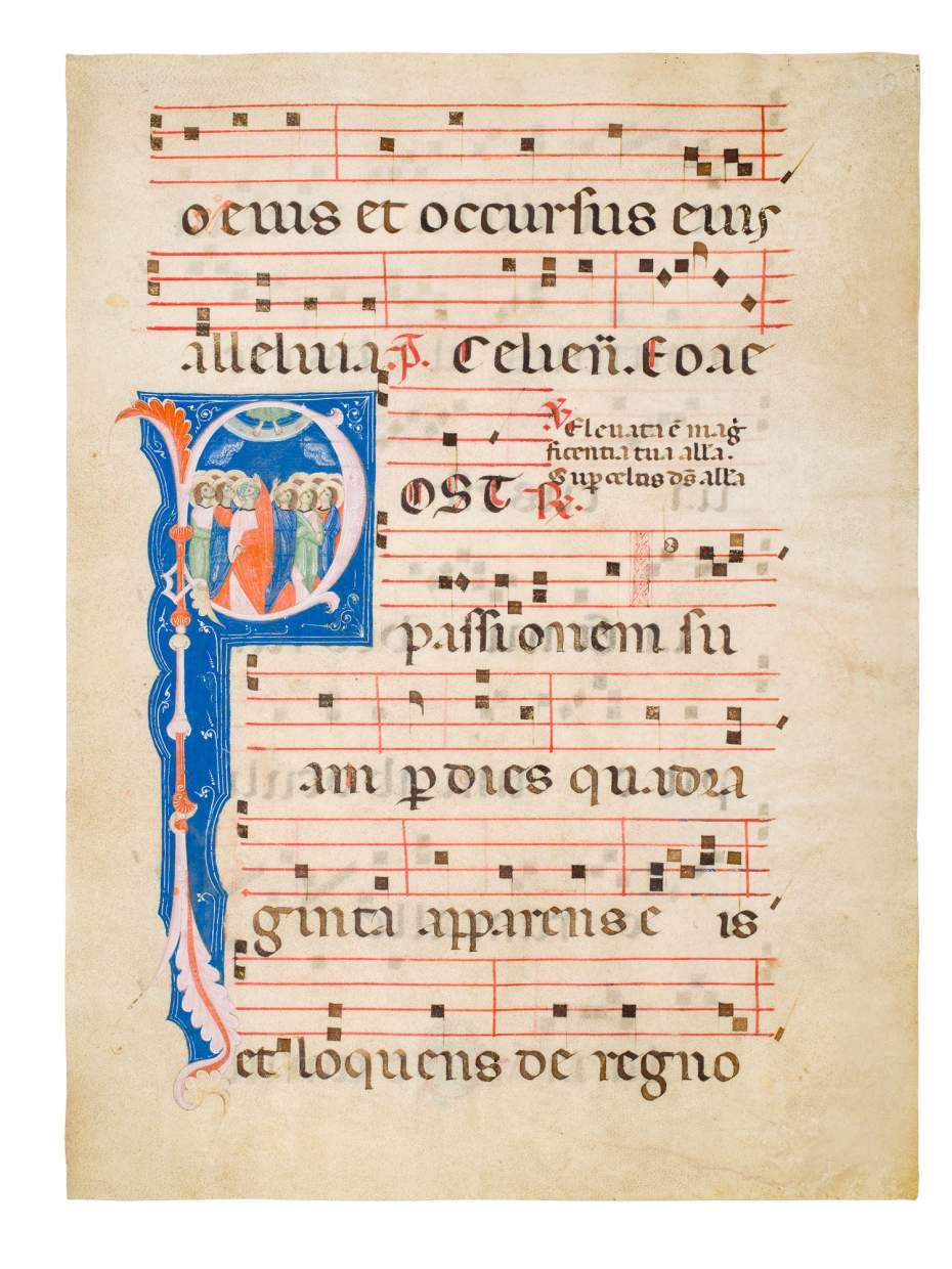 The Ascension on a refined leaf of an Italian Gradual