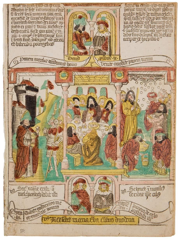 Biblia Pauperum, two bifolia