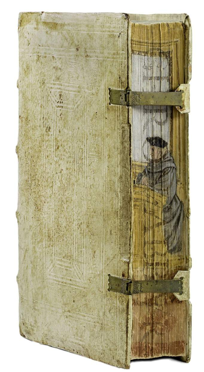 Pillone binding with fore-edge painting