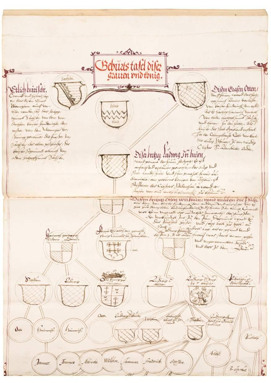Two Chronicles of Bavarian Nobility in Original, Gilt Ottheinrich Binding