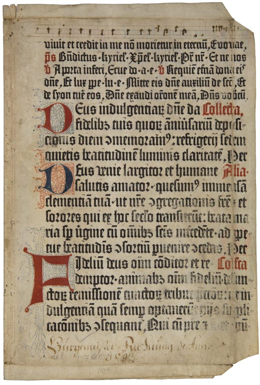 Psalterium Moguntium – Two leaves from the Mainz Psalter
