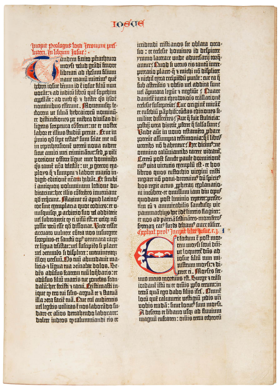 The Gutenberg Bible: Book of Joshua.