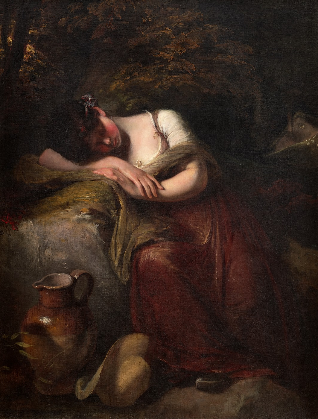 sleeping girl by John Opie