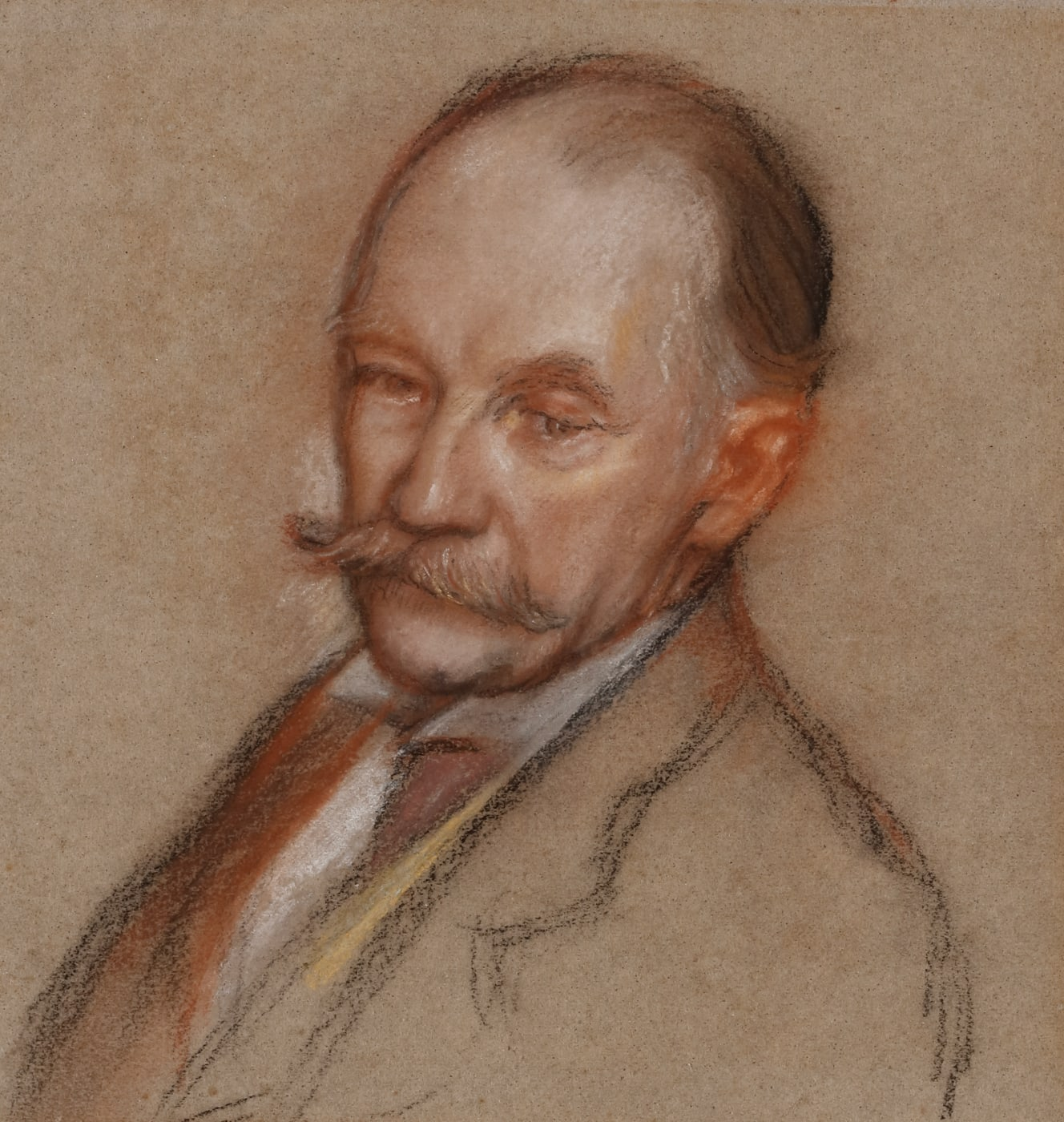 Portrait drawing of the writer Thomas Hardy, by Sir William Rothenstein.