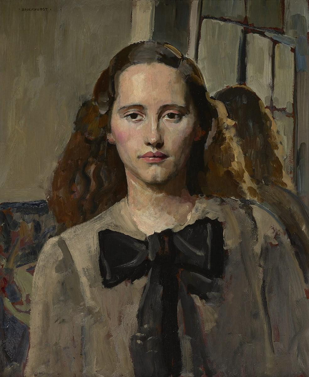 Portrait of Nancy Woodward by Gerald Leslie Brckhurst