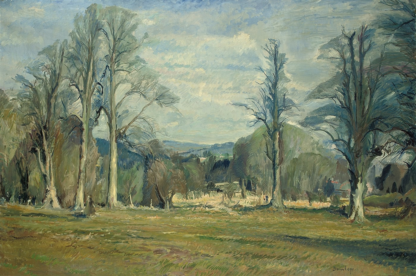 Ronald Ossory Dunlop RA Elms in Spring