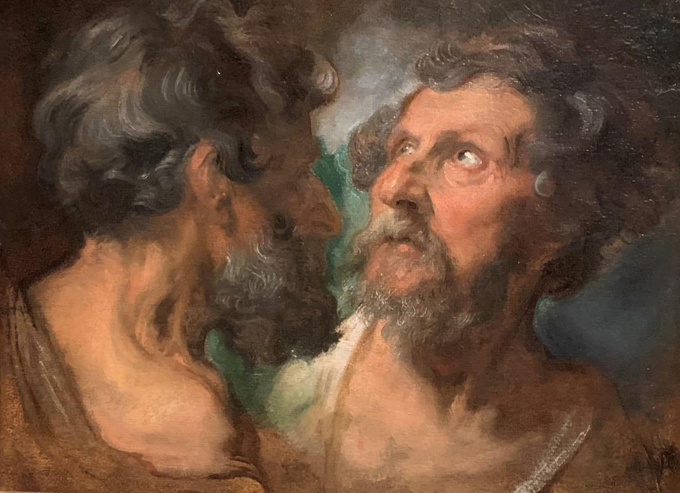 Van Dyck two studies of heads