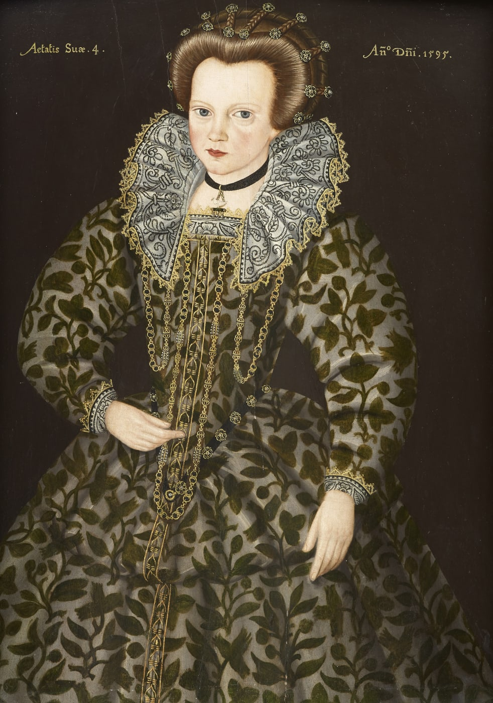 Young Girl Aged 3 Follower of Hieronimo Custodis