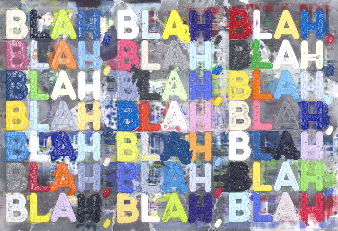 'Blah, Blah, Blah' by Mel Bochner