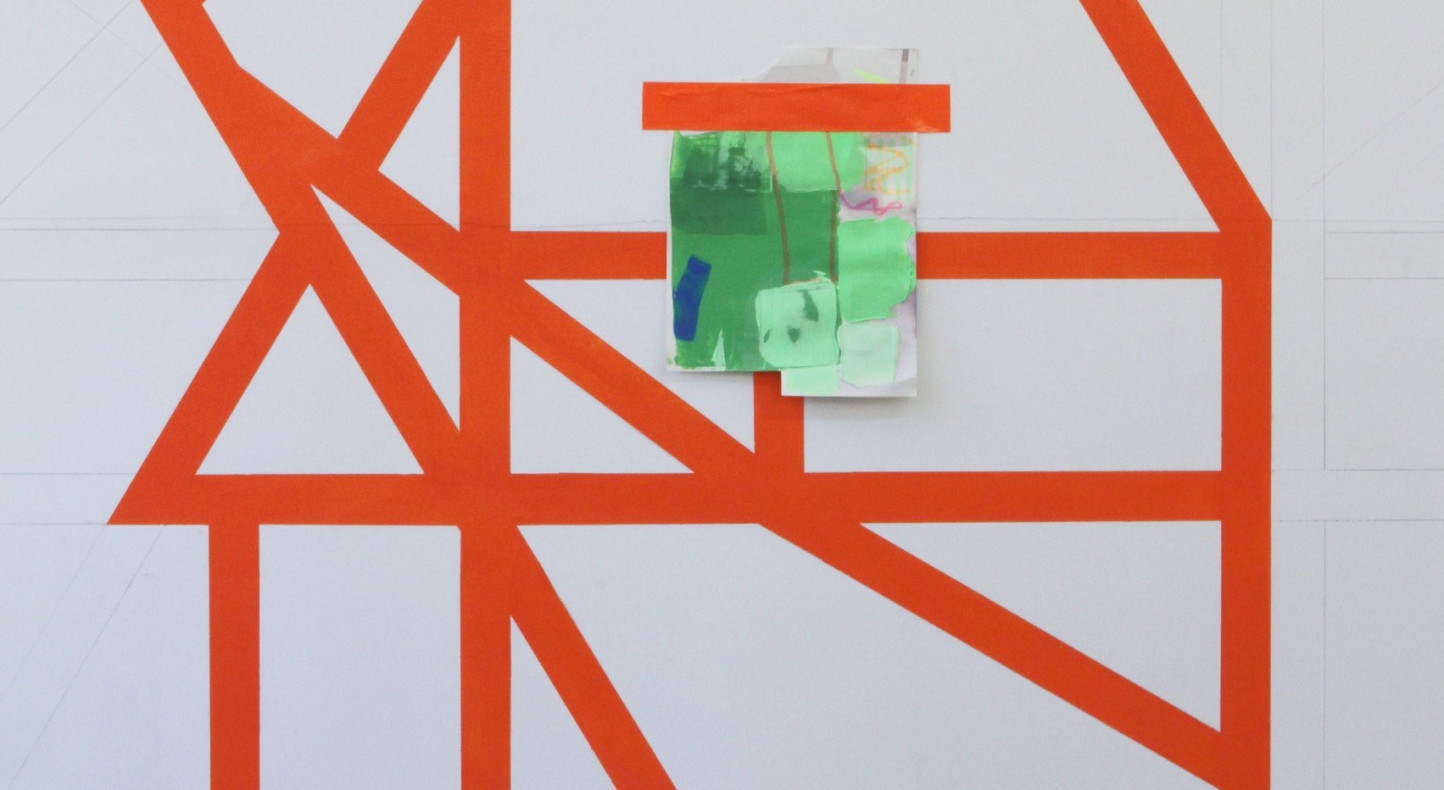 Andrew Bick, Studio wall drawing test #1, 2015