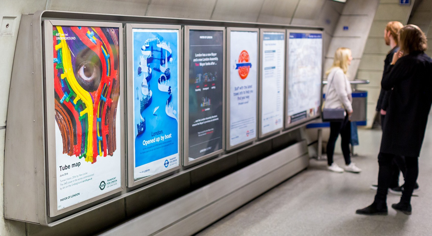 Hew Locke, Art on the Underground, 2016. Photograph by Benedict Johnson.