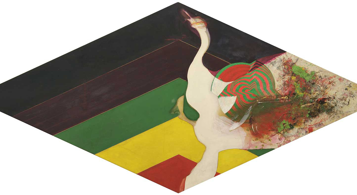 Frank Bowling, 'Swan I', 1964. Image courtesy the Artist and Hales London New York. Copyright the Artist.