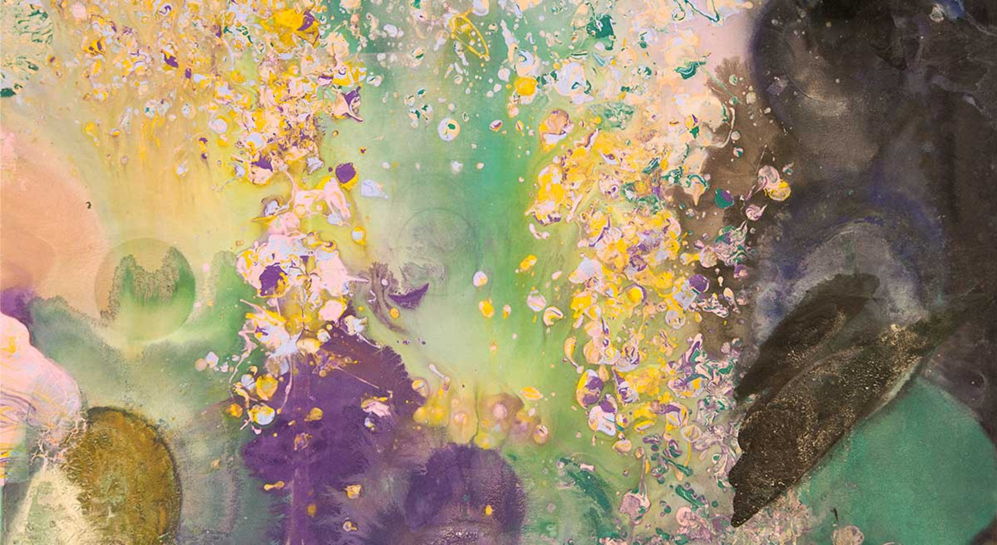 Frank Bowling, 'Moby Dick' (detail), 1981. Image courtesy the artist and Hales London New York. Copyright the artist.