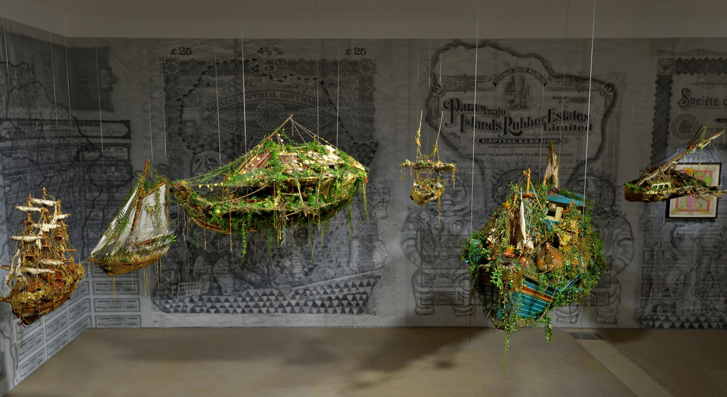 Hew Locke, 'Off Shore Drift', 2014, installation view at Hales London, autumn 2014