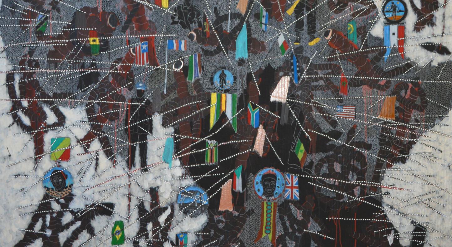 Omar Ba, Here Africa, 2015 (detail)