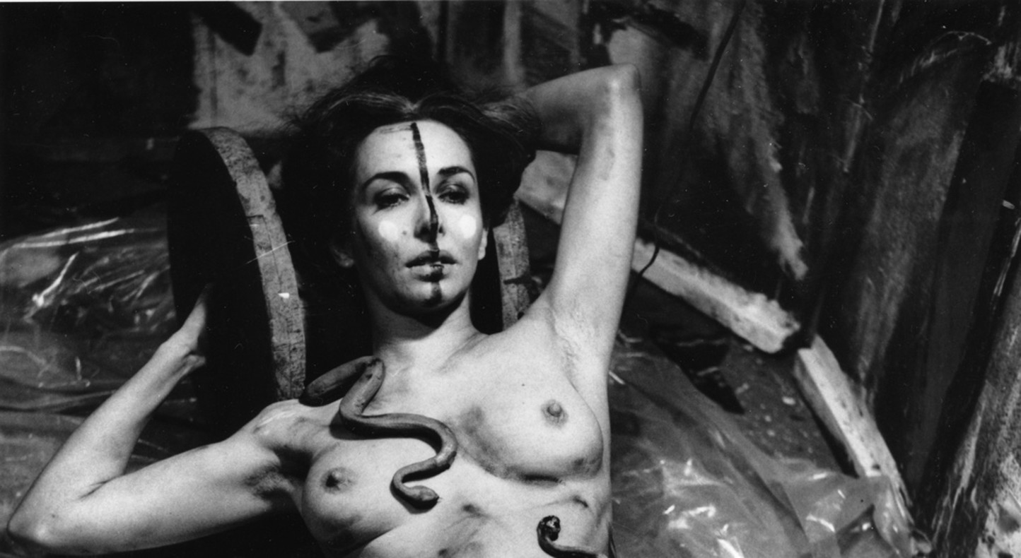 Carolee Schneemann, Eye Body - 36 Transformative Actions (detail), 1963 [photograph by Erró]
