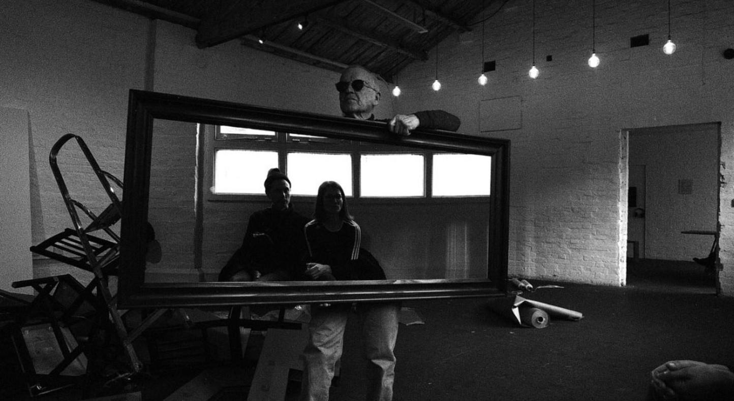 Stuart Brisley, Drawn, 2016. Four-day performance in David Roberts Art Foundation studio, London. Courtesy the artist and Hales Gallery, London. Photo Maya Balcioglu.