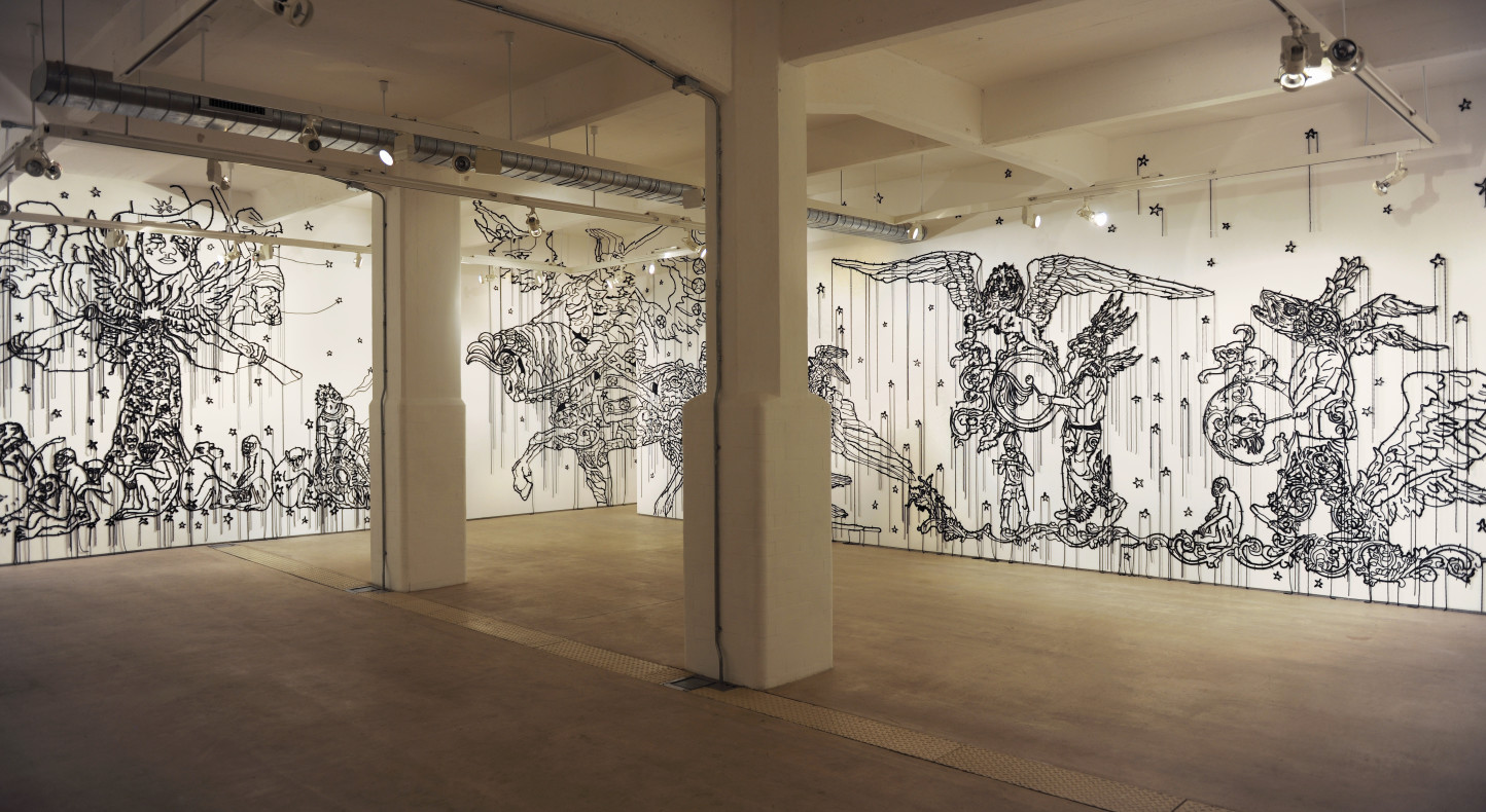 Hew Locke, The Nameless. Installation view, Hales Gallery, 2010