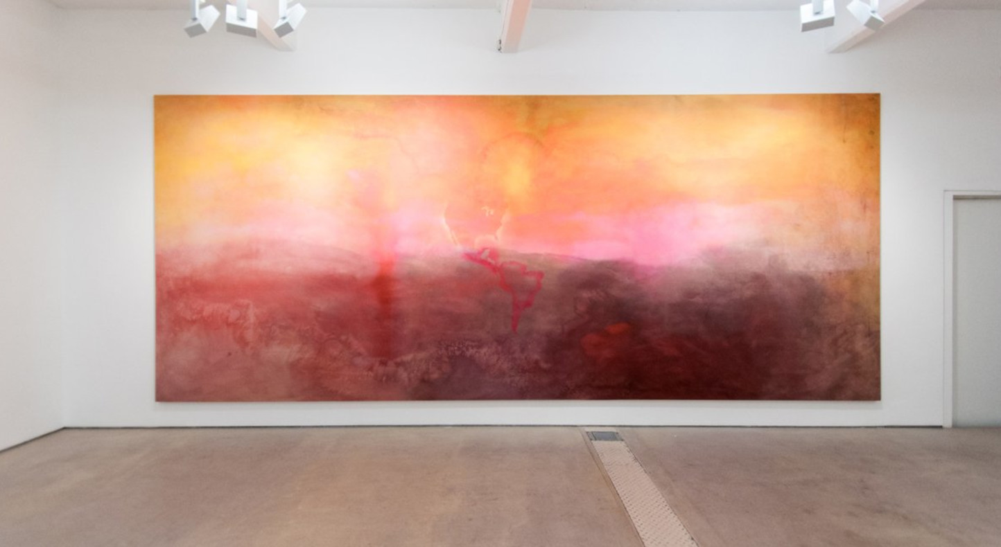Frank Bowling OBE RA The Map Paintings 1967-1971, installation view at Hales Gallery, 2013 (c) Stefano Padoan