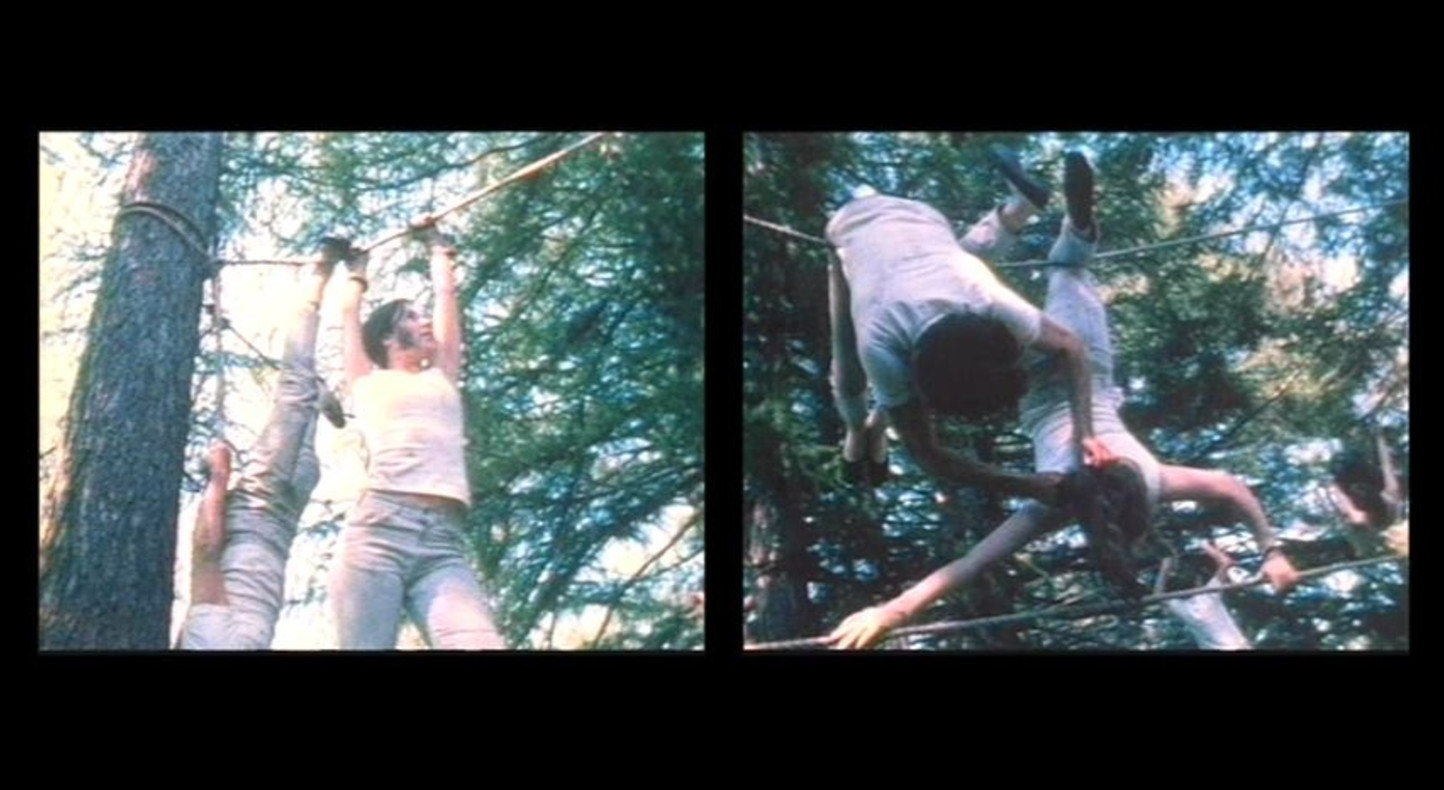 Carolee Schneemann, Water Light/Water Needle (Lake Mah Wah, NJ), 1966, 11:13 min, color, sound, 16 mm film on video, (film still),