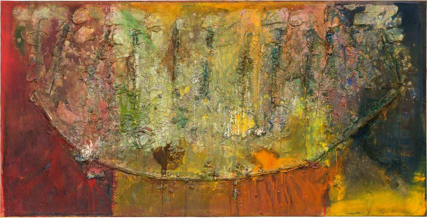 Frank Bowling, Philoctetes' Bow, 1987