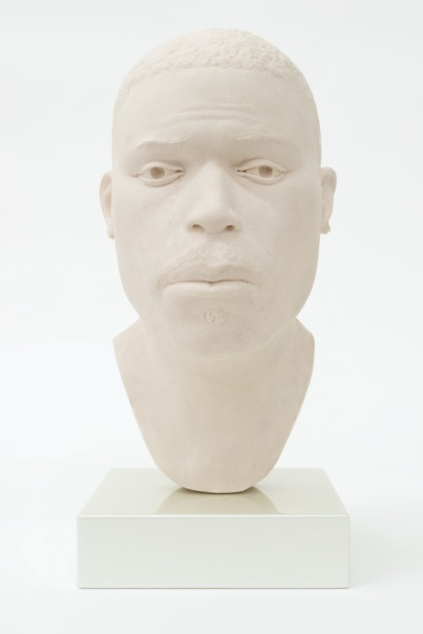 THOMAS J PRICE, Head 16, 2017, acrylic composite, Perspex and automotive spray paint, 19.2 x 8.5 x 12 cm, 7 1/2 x 3 3/8 x 4 3/4 in, Edition of 5 plus 1 artist's proof (side view)